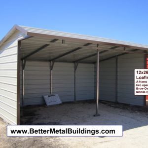 12x24 loafing shed-horizontal roof