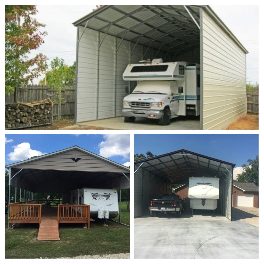 We Finally Finished The Rv Carport: Metal RV Covers And Motor Home Garages