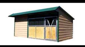 12x20 Loafing shed-Vertical roof-12x8 tackroom-12x7 gate-
