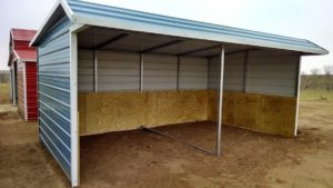12x20 Loafing Shed- horizontal roof- kickwall
