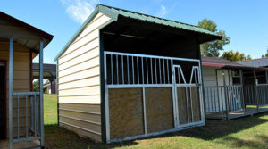 12x12 Vertical roof- Loafing-Shed-with-12x7 Gate